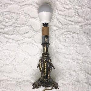Vintage L&L WMC Tiffa-Mini 9883 Tapped Cherub Lamp